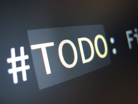 A terminal showing the text '#TODO: Fi...'.
